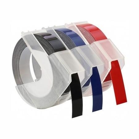 Páska Dymo S0847750 černá/modrá/červená, 9 mm, sada 3 ks
