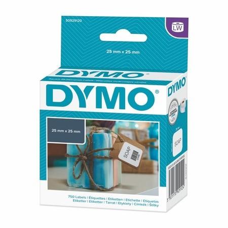 Papírové štítky Dymo S0929120, 25x25 mm, 750 ks