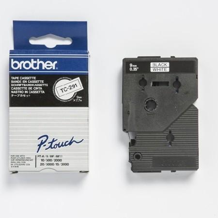 Páska TC-291 bílá/černý tisk, 9 mm x 7,7 m