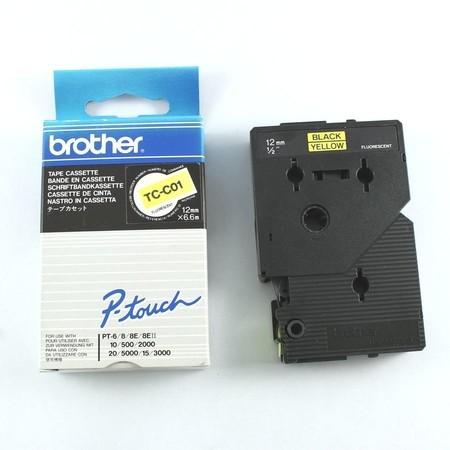 Páska TC-C01žlutá/černý tisk, 12 mm x 6,7 m