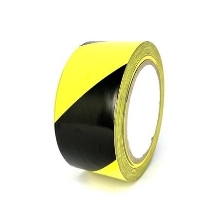 Podlahová páska TMF07 žluto-černá 50 mm, délka 30 m
