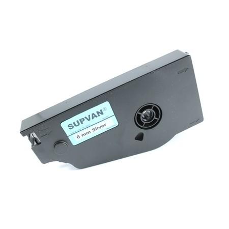 Štítková páska TP-L06ES stříbrná, 6 mm x 16 m