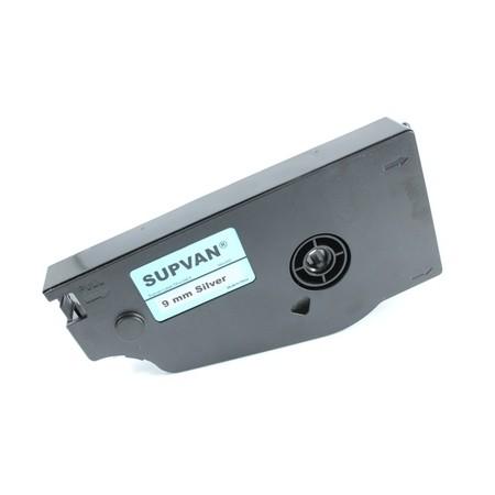 Štítková páska TP-L09ES stříbrná, 9 mm x 16 m