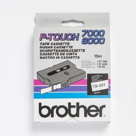 Páska TX-231 bílá/černý tisk, 12 mm x 15 m