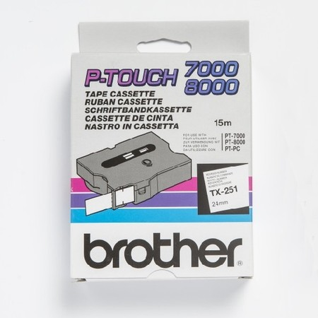 Páska TX-251 bílá/černý tisk, 24 mm x 15 m