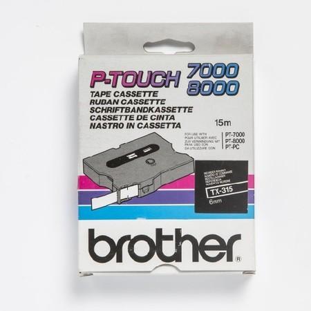 Páska TX-315 černá/bílý tisk, 6 mm x 15 m