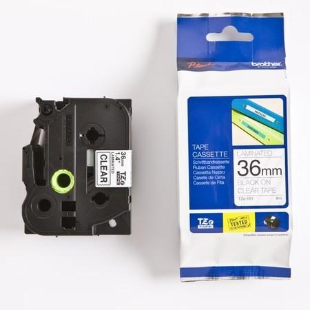 Páska Brother TZE-161 průhledná/černý tisk, 36 mm