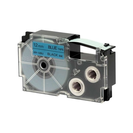 Páska Casio XR-12BU1 modrá/černý tisk, 12 mm