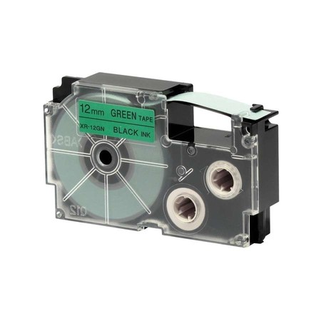 Páska XR-12GN1 zelená/černá, 12 mm x 8 m