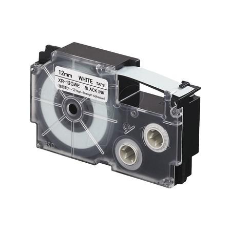 Páska XR-12GWE bílá/černá, 12 mm x 5,5 m, silné lepidlo