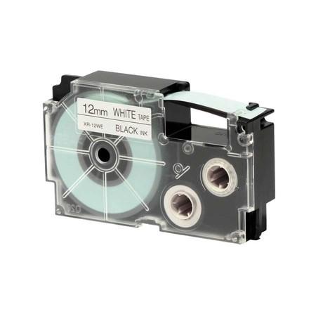 Páska XR-12WE1 bílá/černá, 12mm x 8 m