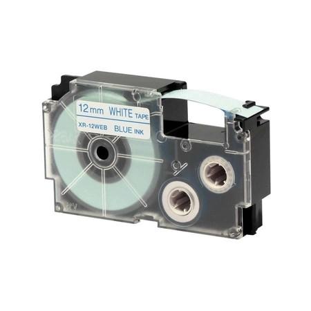 Páska XR-12WEB1 bílá/modrá, 12 mm x 8 m