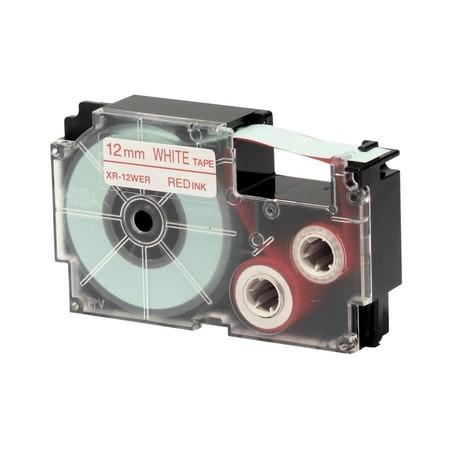 Páska XR-12WER1 bílá/červená, 12 mm x 8 m