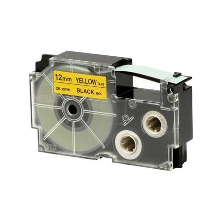 Páska XR-12YW1 žlutá/černá, 12 mm x 8 m
