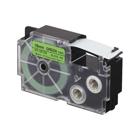 Páska XR-18FGN1 signální zelená/černá, 18 mm x 5.5 m