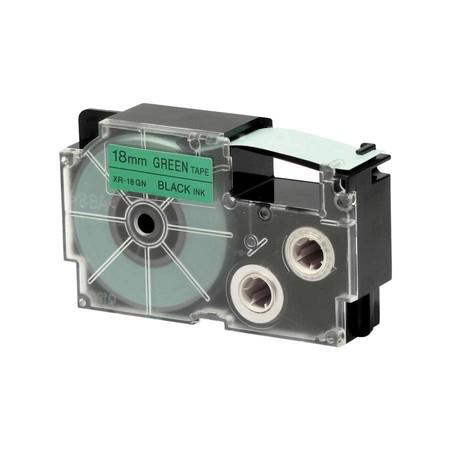 Páska XR-18GN1 zelená/černá, 18 mm x 8 m