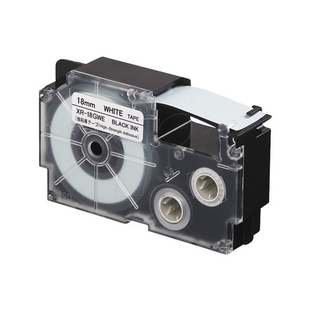 Páska XR-18GWE bílá/černá, 18 mm x 5,5 m, silné lepidlo