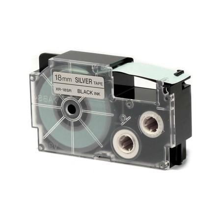 Páska XR-18SR1 stříbrná/černý tisk, 18 mm x 8 m