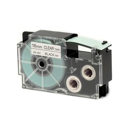 Páska XR-18X1 průhledná/černá, 18 mm x 8 m