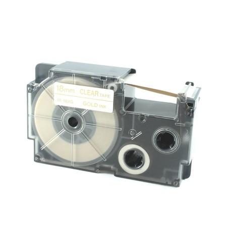Páska XR-18XG1 průhledná/zlatá, 18 mm x 8 m