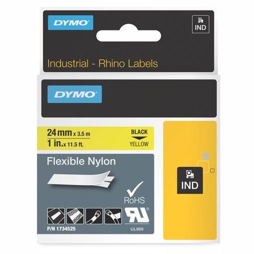 Páska Dymo 1734525 žlutá/černý tisk, 24 mm, flexibilní nylonová
