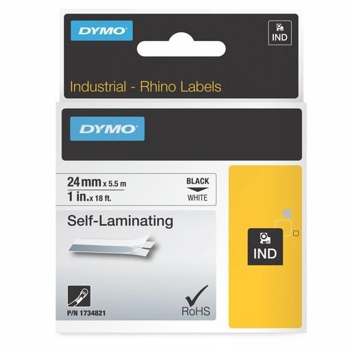 Páska Dymo 1734821 bílá/černý tisk, 24 mm, obmotávací