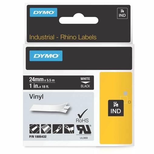 Páska Dymo 1805432 černá/bílý tisk, 24 mm, vinylová