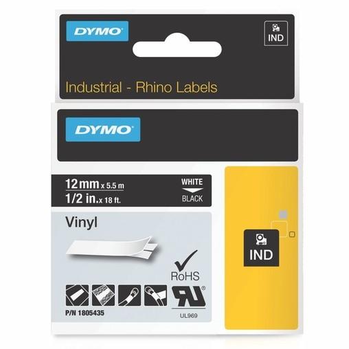 Páska Dymo 1805435 černá/bílý tisk, 12 mm, vinylová