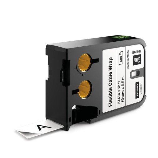 Páska Dymo XTL 1868807 bílá/černý tisk, 19 mm, flexibilní nylonová