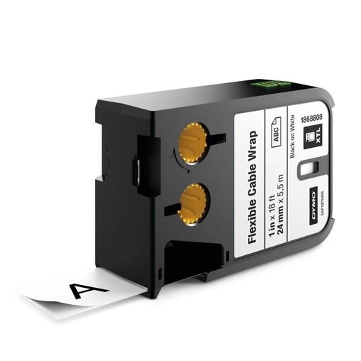 Páska Dymo XTL 1868808 bílá/černý tisk, 24 mm, flexibilní nylonová