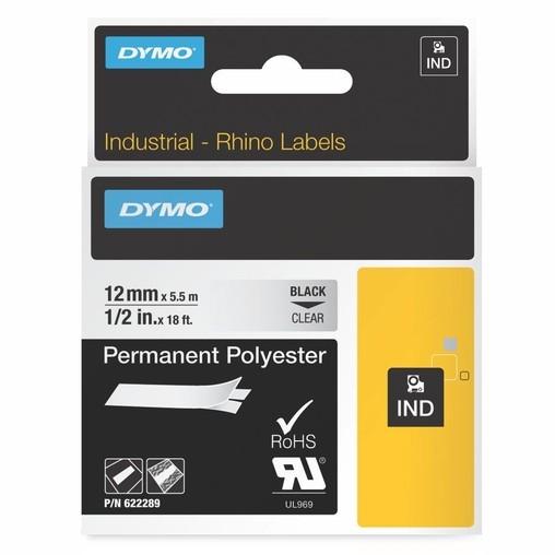 Páska Dymo 622289 průhledná/černý tisk, 12 mm, silné lepidlo