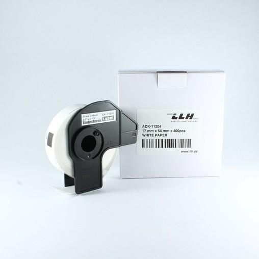 Papírové štítky ADK11204, 17x54 mm, 400 ks