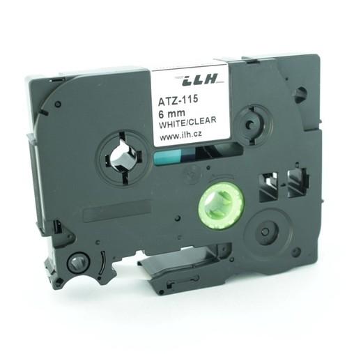 Páska ATZ-115 průhledná/bílý tisk, 6 mm