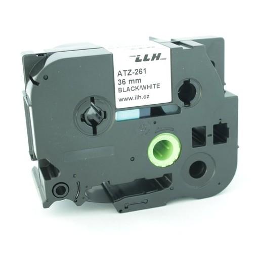 Páska ATZ-261 bílá/černý tisk, 36 mm