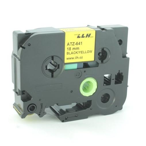 Páska ATZ-641 žlutá/černý tisk, 18 mm