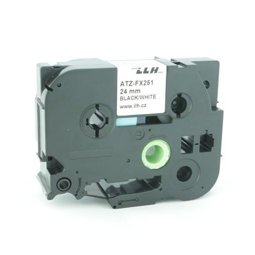 Páska ATZ-FX251 bílá/černý tisk, 24 mm, flexibilní
