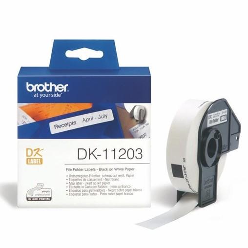Papírové štítky Brother DK11203, 17x87 mm, 300 ks