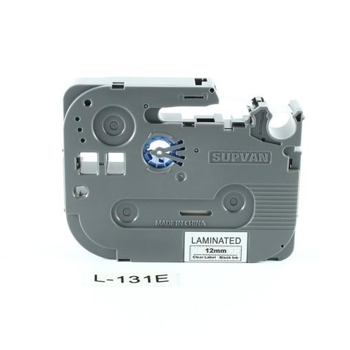 Páska Supvan L-131E průhledná/černý tisk, 12 mm