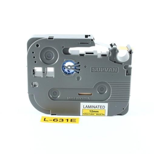 Supvan L-631E label tape yellow/black print, 12 mm