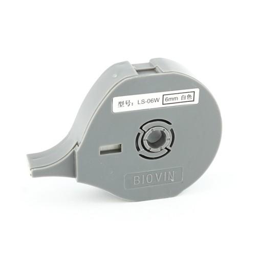Štítková páska LS-06W bílá, 6 mm x 8 m