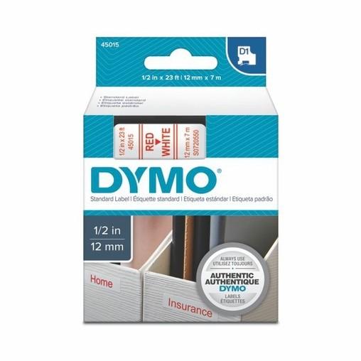 Páska Dymo S0720550 bílá/červený tisk, 12 mm