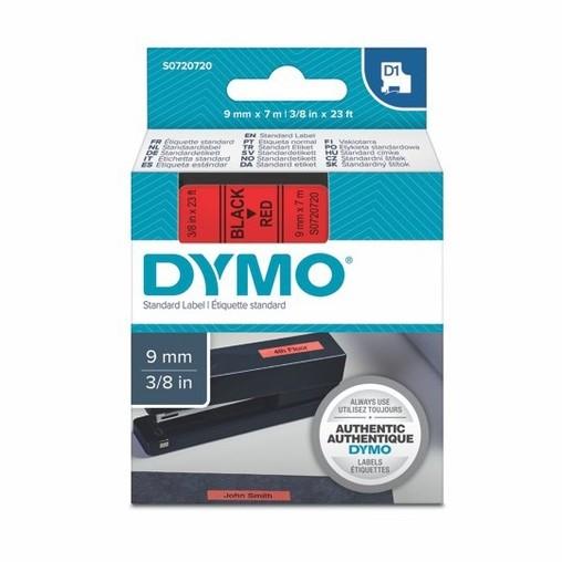 Páska Dymo S0720720 červená/černý tisk, 9 mm