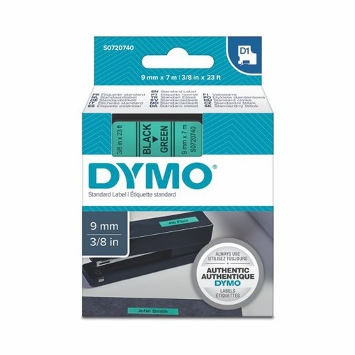 Páska Dymo S0720740 zelená/černý tisk. 9 mm
