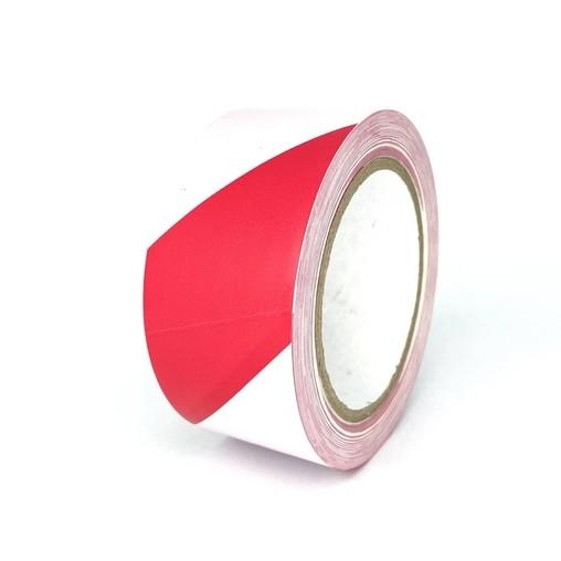 Podlahová páska TMF08 červeno-bílá 50 mm, délka 30 m